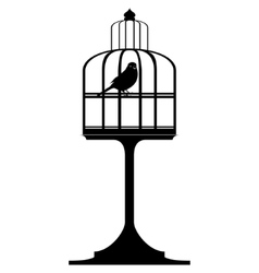 Cage with birds-4 vector