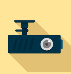 Car dash cam icon flat style vector