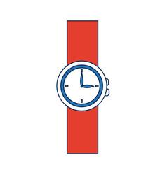 Cartoon wrist watch clock hour timer vector