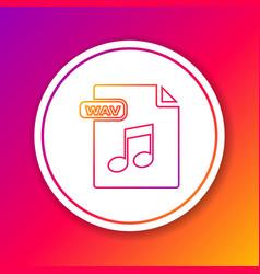 Color line wav file document download wav button vector