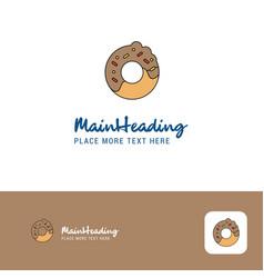 creative doughnut logo design flat color logo vector image