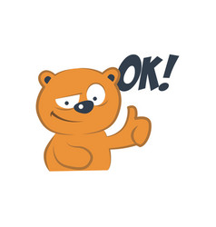 Cute bear agreed vector