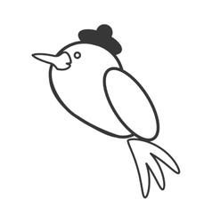cute bird animal icon vector image