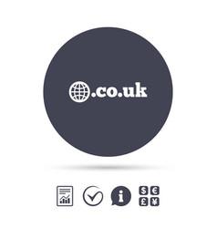 Domain couk sign icon uk internet subdomain vector