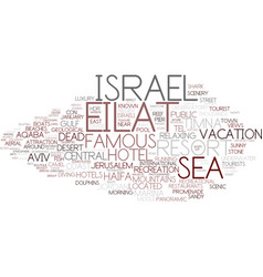 eilat word cloud concept vector image
