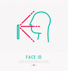 Face id thin line icon face recognition vector