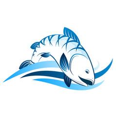 fish symbol for fishing vector image