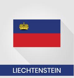 Flag liechtenstein with shadow vector