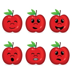 Fruit collection with face expression vector image