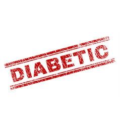 Grunge textured diabetic stamp seal vector