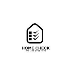 Home check logo simple line logo template vector