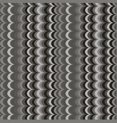 Ikat wave grey seamless pattern vector
