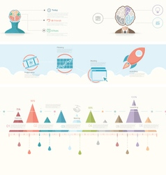 infographics elements for presentation templates vector image