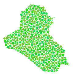 iraq map collage of dots vector image