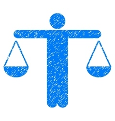 Judge Person Grainy Texture Icon vector