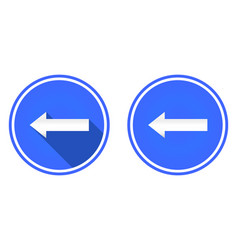 left arrow flat icon arrow button vector image