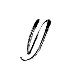 Letter d handwritten by dry brush rough strokes vector