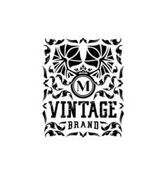 Letter m vintage logo design vector