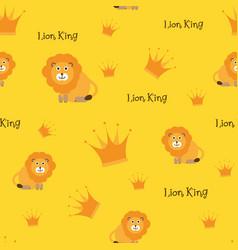Lion king cute children theme seamless vector