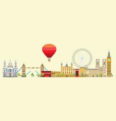 london skyline 5 vector image