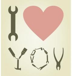 Love tool vector