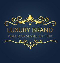 luxury brand vintage gold template design i vector image