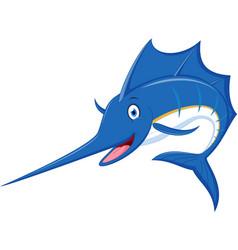 marlin fish cartoon vector image