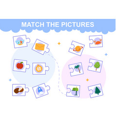 Match pictures vector