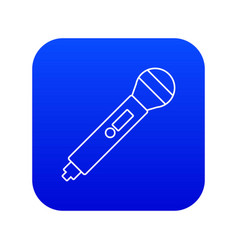 microphone icon blue vector image