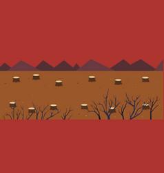 Nature landscape is destroyed vector