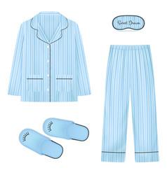 nightwear realistic set vector image