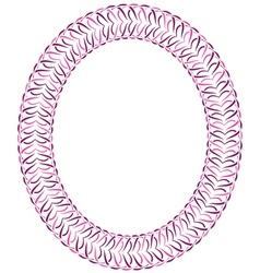 Openwork violet frame vector