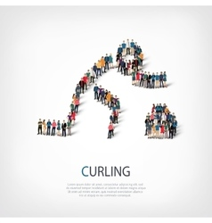 people sports curling vector image