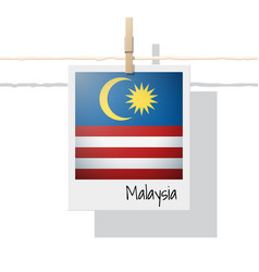 Photo of malaysia flag on white background vector