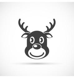 Reindeer christmas icon flat vector image