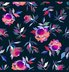 Seamless abstract floral pattern pink and violet vector