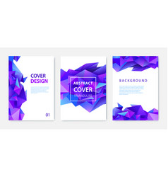 set triangle polygonal abstract vector image