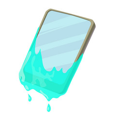 Smartphone in water icon cartoon style vector