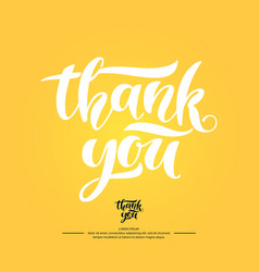 Thank you modern hand drawn lettering phrase vector
