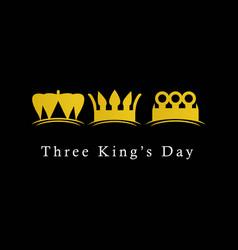 Three kings day logo icon template design vector