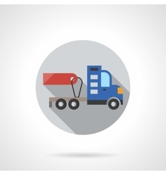 Truck without trailer round flat color icon vector image