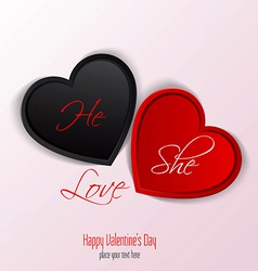 valentine card 3 vector image