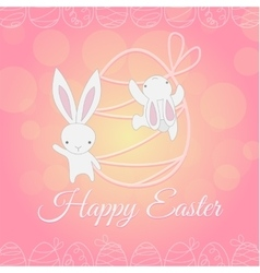 White Easter Bunny climber vector