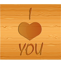 Wood texture with love vector