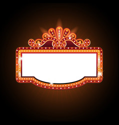 brightly theater glowing retro cinema neon sign vector image