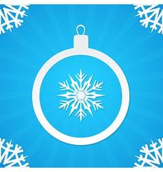 christmas postcard ball 1 vector image vector image