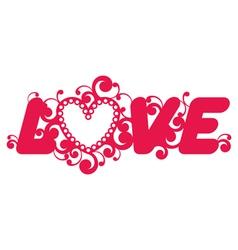 Love word vector image vector image