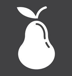Pear solid icon fruit and diet graphic vector