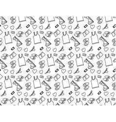 underwear love object seamless pattern black and vector image vector image