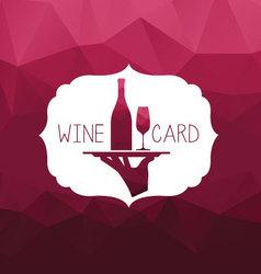 Wine card wine tray vector image vector image